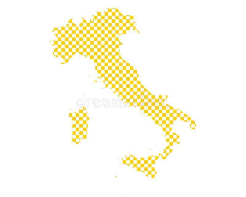 意大利的地图棋盘样式的 向量例证