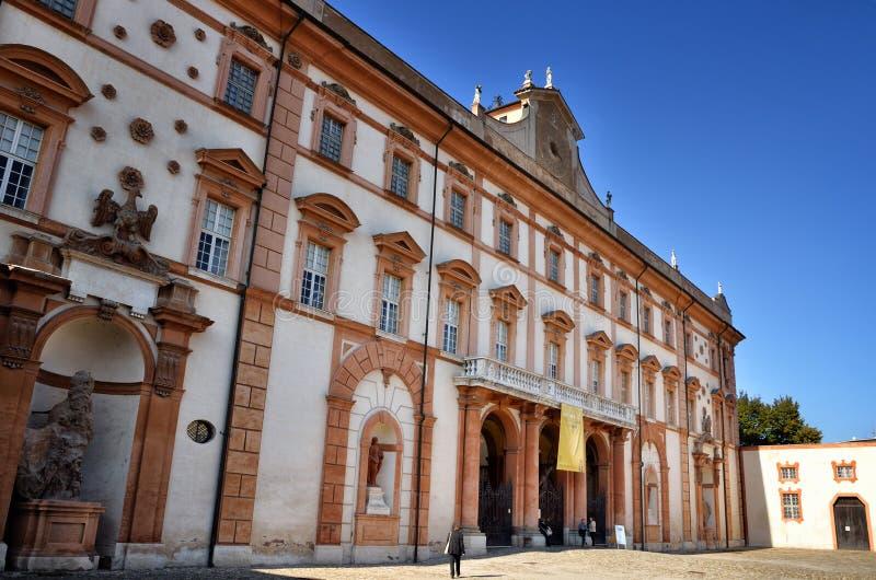 意大利目的地,萨索罗公爵的宫殿, Este家庭老夏天住所  库存照片
