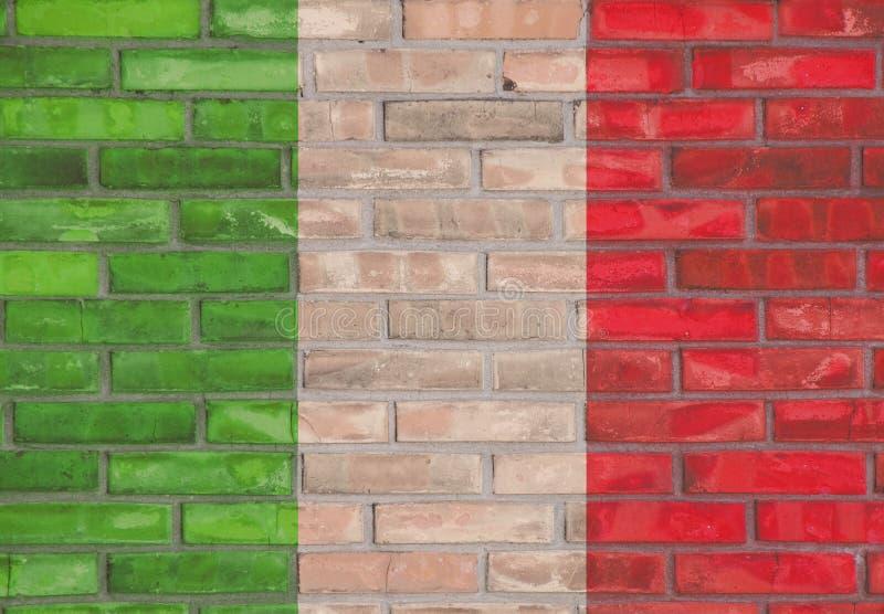 意大利砖墙 免版税库存照片