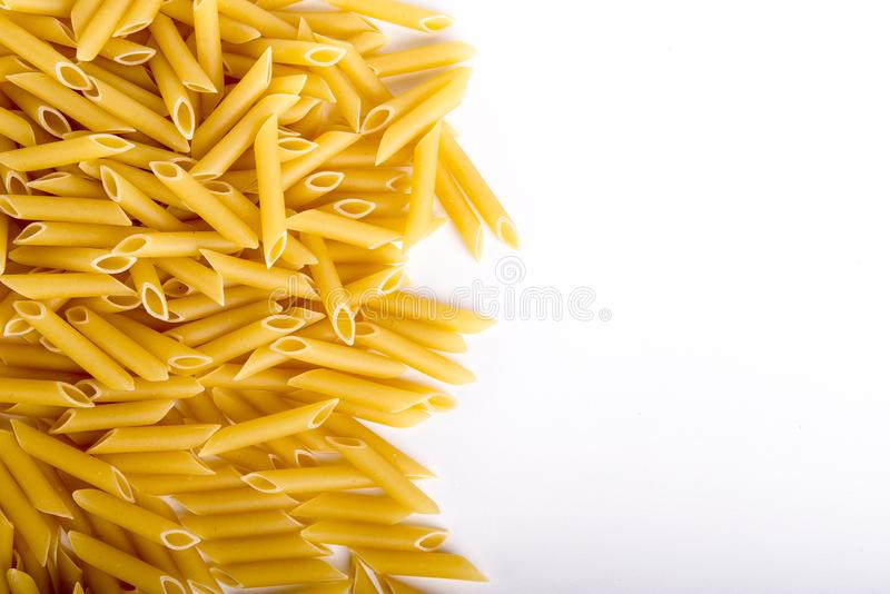 意大利硬质小麦面团, penne 免版税库存图片