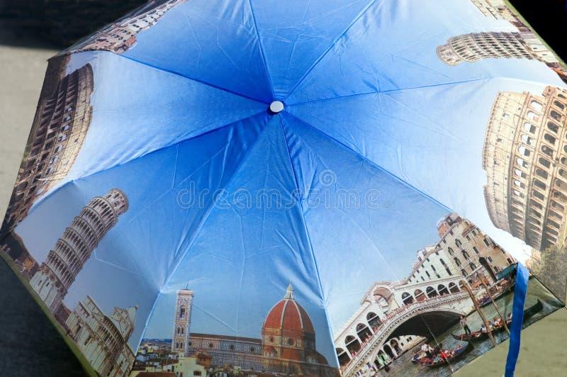 意大利纪念品伞 库存照片