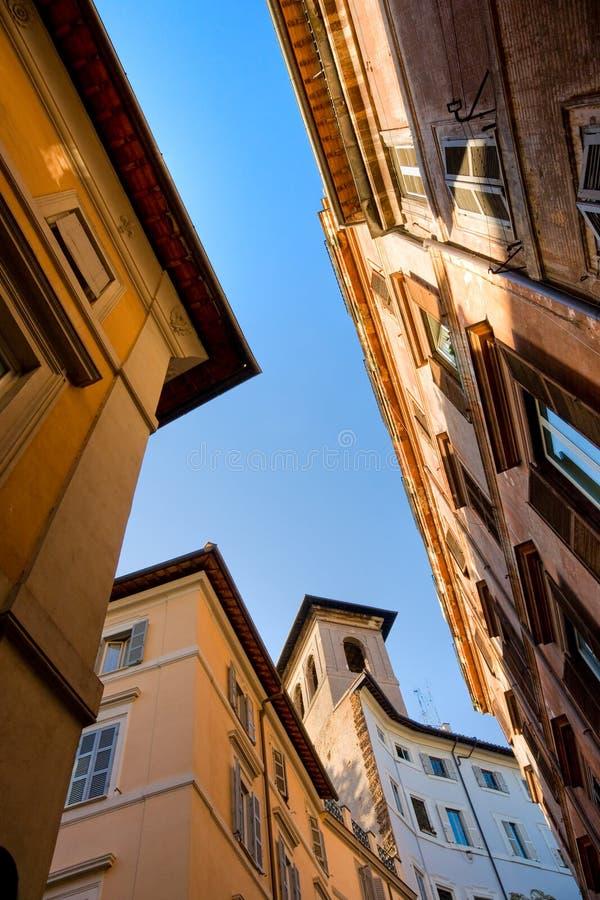 意大利罗马屋顶 库存照片