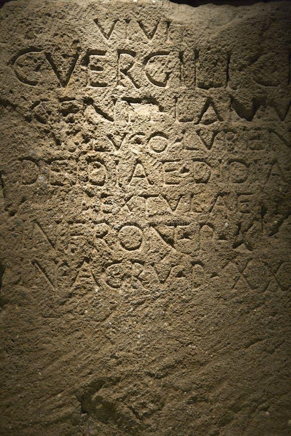 意大利罗马脚本石头 免版税图库摄影