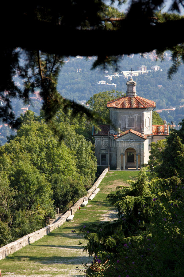 意大利联合国科教文组织遗产Sacro Monte 免版税库存照片