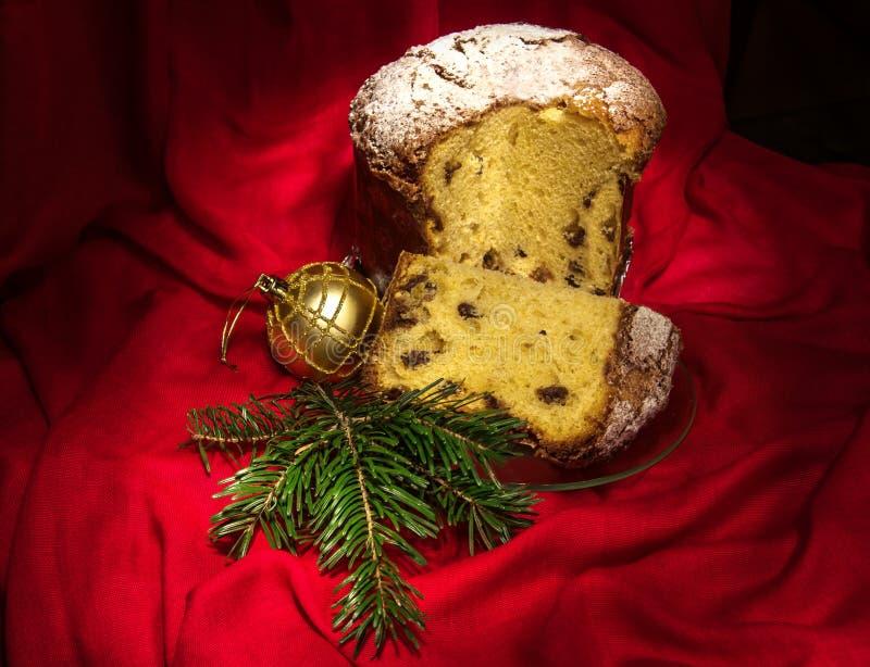 意大利节日糕点、传统蛋糕圣诞节的和新年片断  库存照片