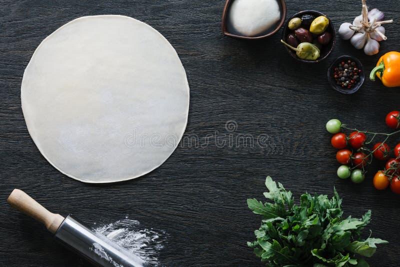 意大利薄饼烹调 免版税库存图片