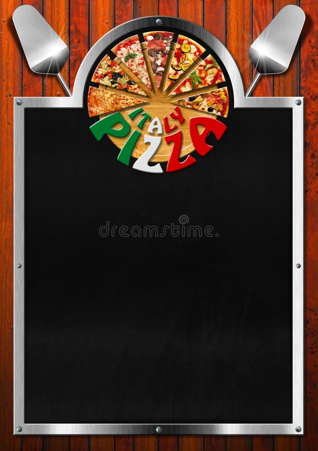 意大利薄饼-菜单设计 皇族释放例证