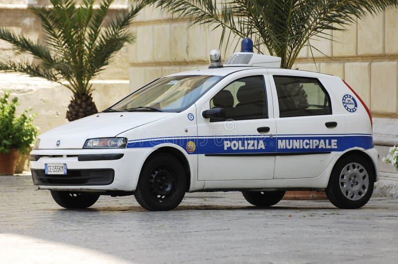 意大利警车 免版税库存照片