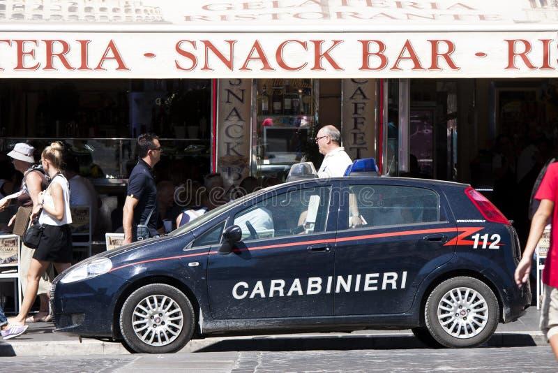 意大利警车(Carabinieri) 112 库存图片