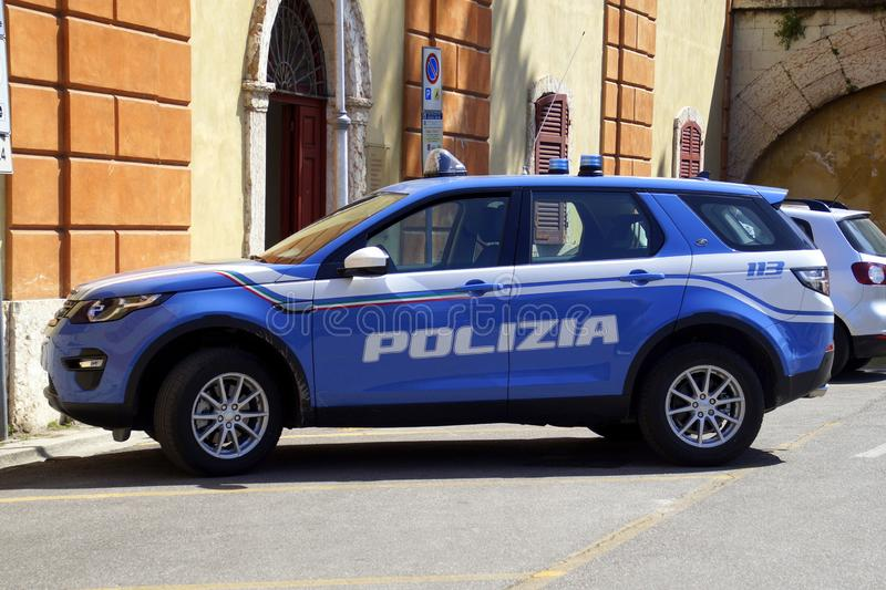 意大利警车 库存照片