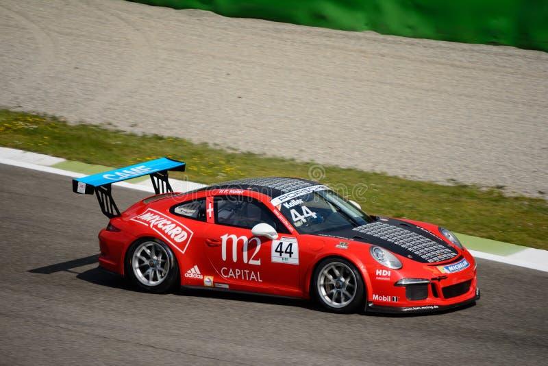 意大利语保时捷Carrera 911杯在蒙扎 免版税库存照片