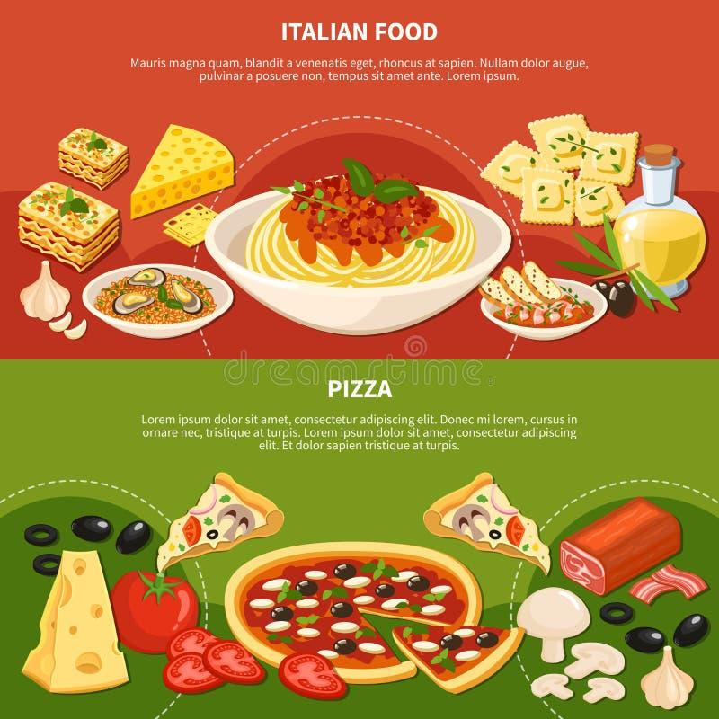 意大利语断送水平的横幅 库存例证