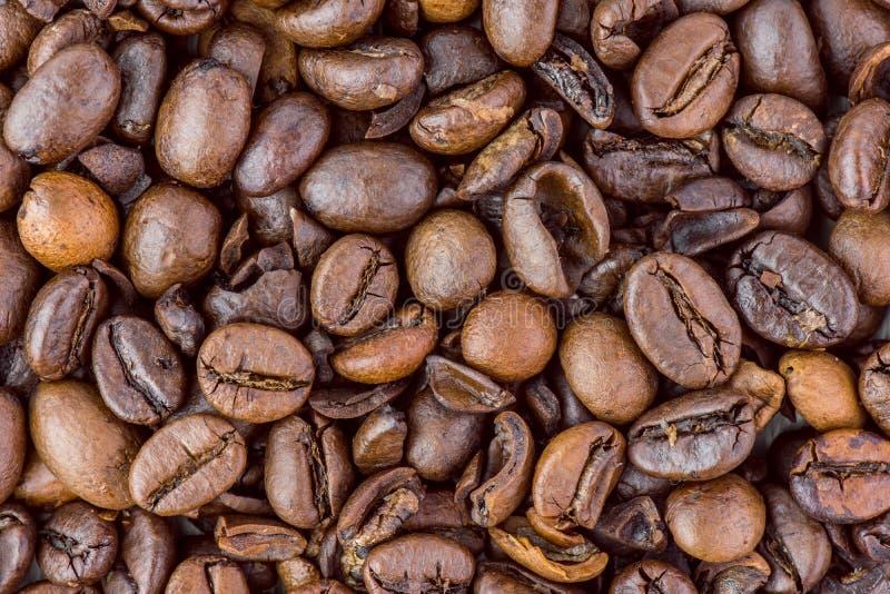 意大利语烤咖啡豆的特写镜头 免版税库存图片