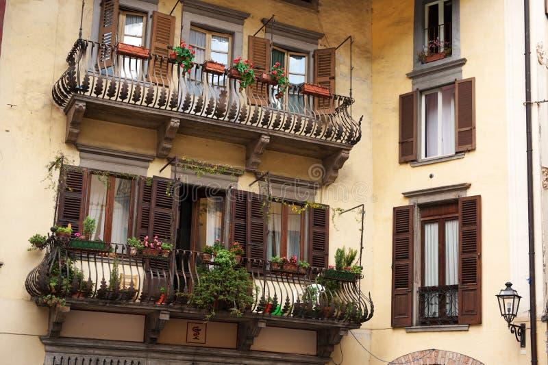 意大利语的阳台 库存照片