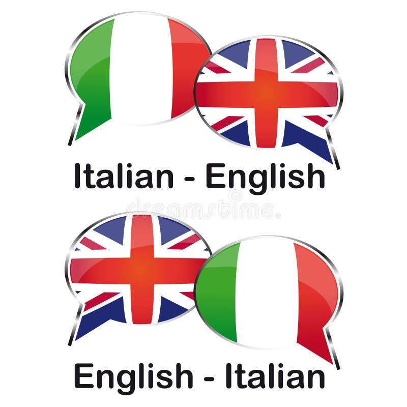 意大利语-俄语译者 向量例证