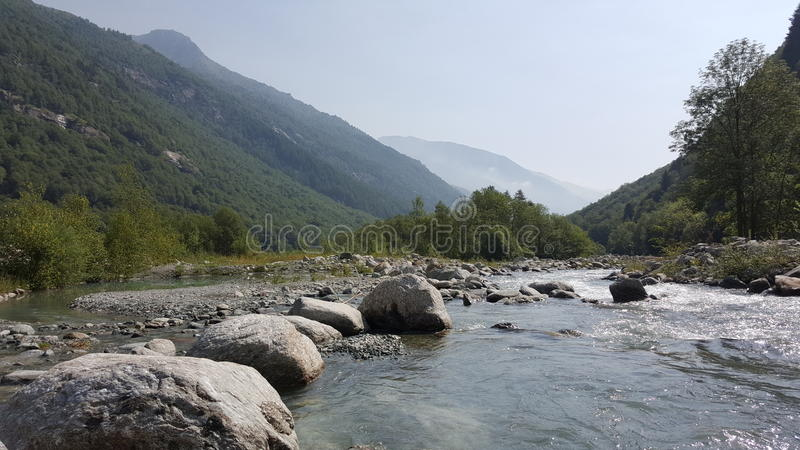 意大利语Alpes 免版税图库摄影