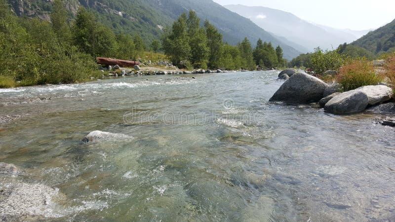 意大利语Alpes 免版税库存照片
