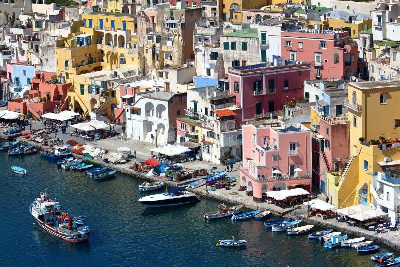 意大利那不勒斯procida 免版税库存照片