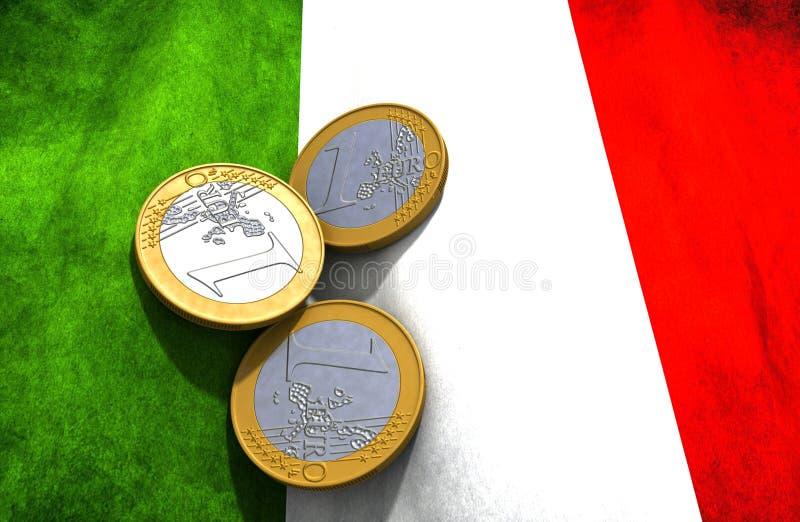 意大利金钱旗子 库存例证