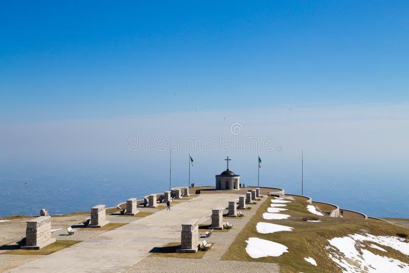 意大利阿尔卑斯地标 第一份世界大战纪念品 免版税图库摄影