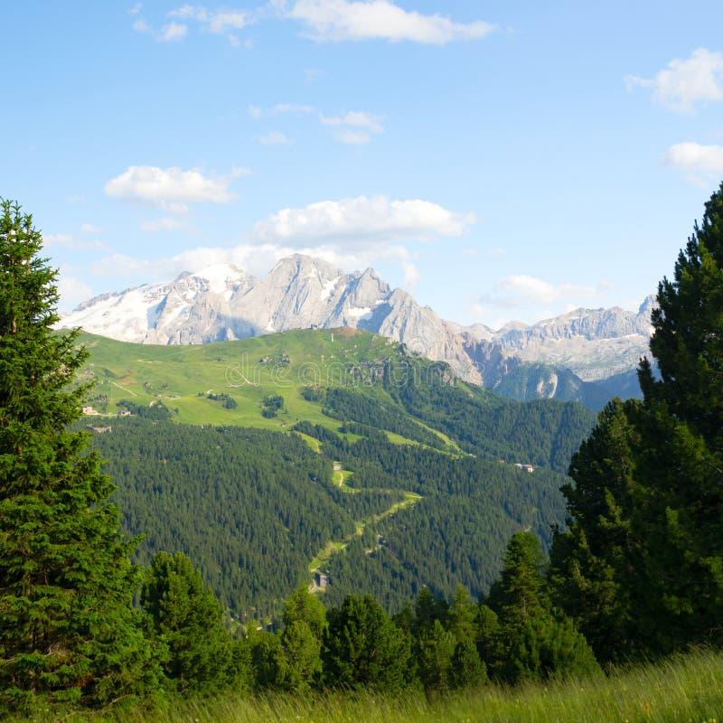 意大利阿尔卑斯美好的风景  库存图片