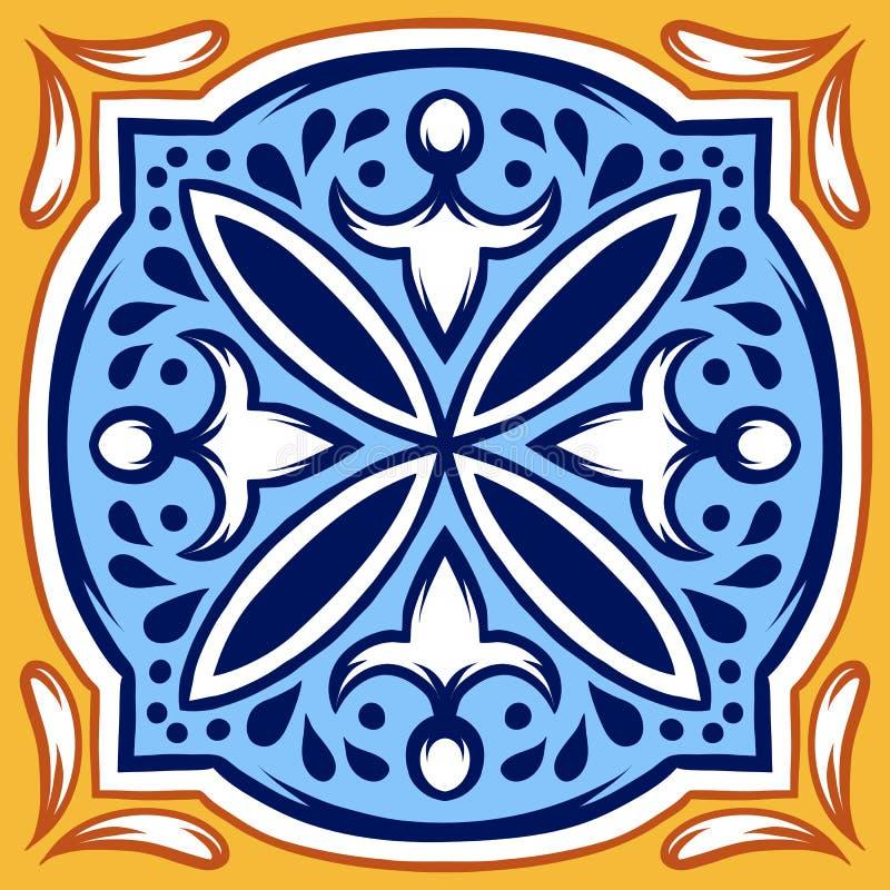 意大利陶瓷砖样式 种族民间装饰品 皇族释放例证