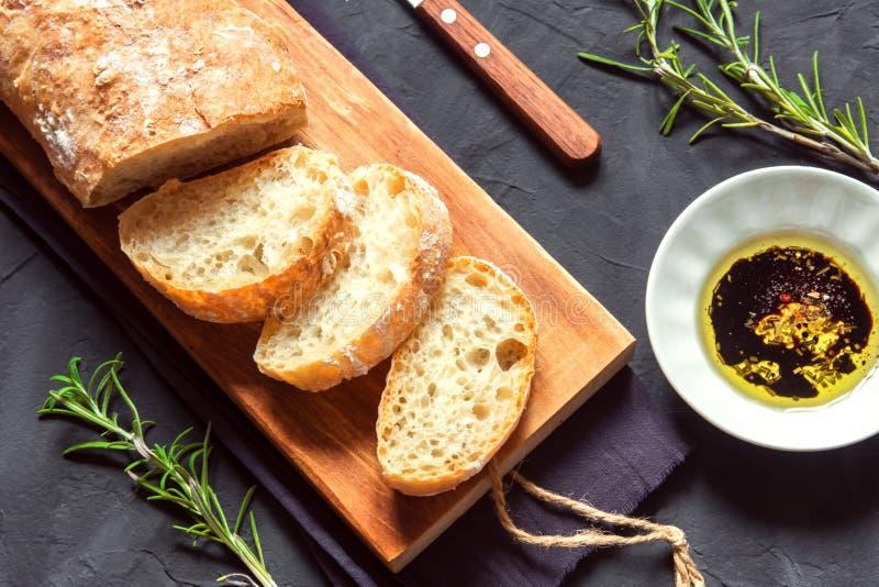 意大利面包ciabatta 库存图片