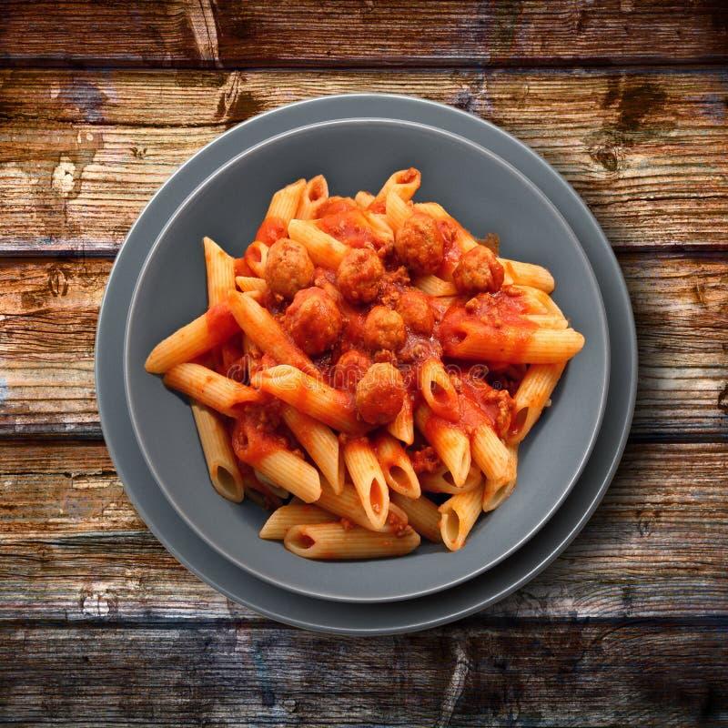 意大利面团用肉调味汁 库存图片
