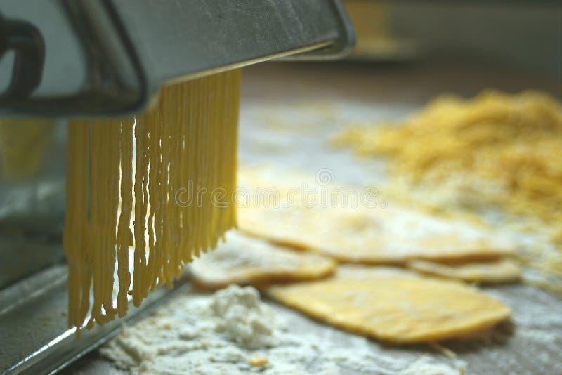 意大利面食细面条 免版税库存图片