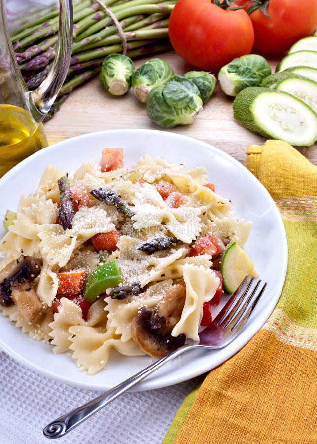 意大利面食蔬菜 库存照片