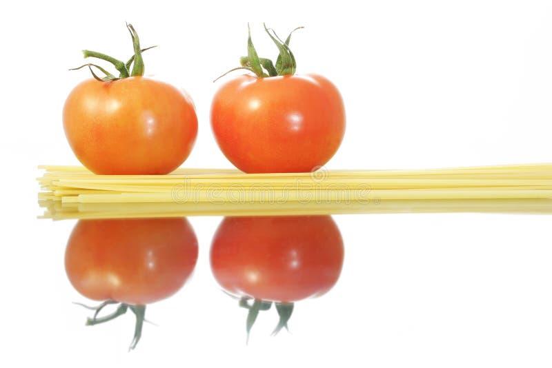 意大利面食蕃茄 库存照片
