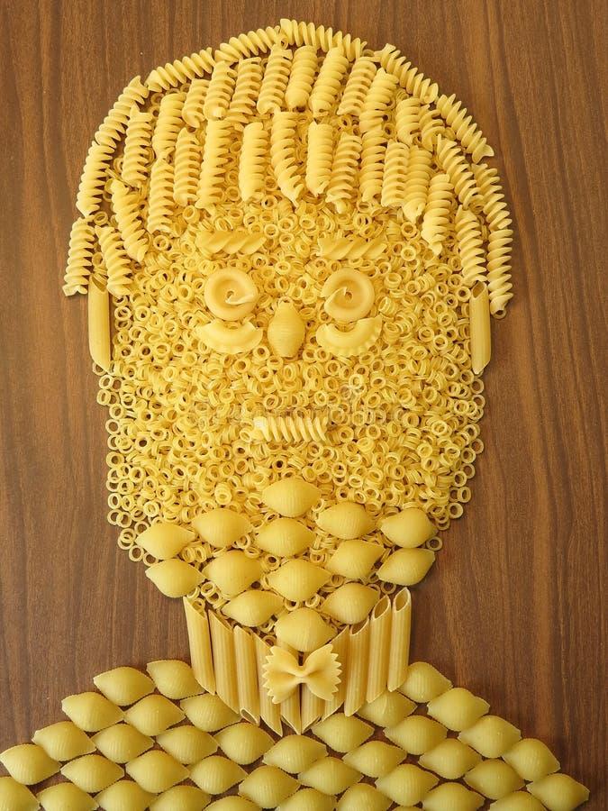意大利面食表面 免版税库存图片