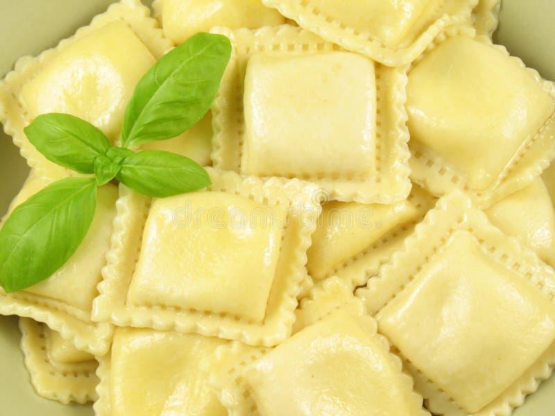 意大利面食馄饨 免版税库存图片
