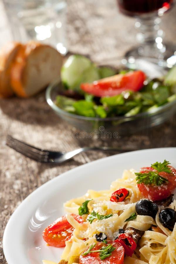 意大利面食 库存图片