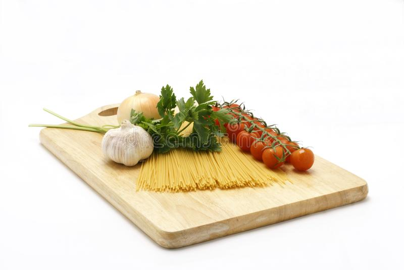 意大利面食Ingridients 库存图片
