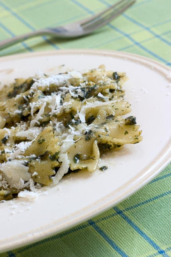 意大利面食pesto 库存照片