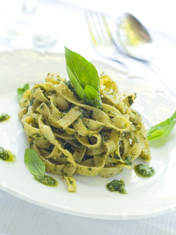 意大利面食pesto 免版税图库摄影