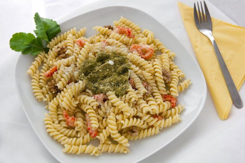 意大利面食pesto 免版税库存图片