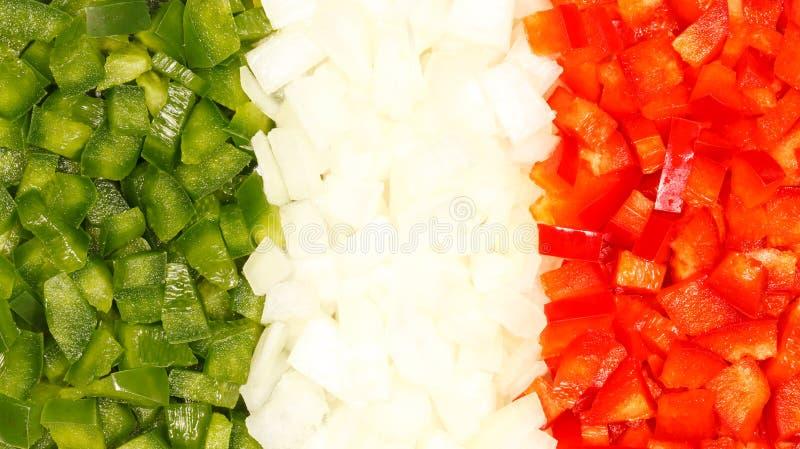 意大利食物标志 库存图片