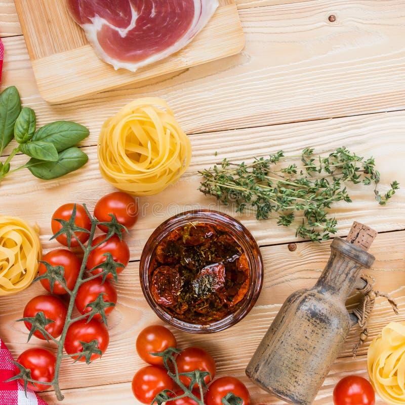 意大利食物概念 免版税库存照片