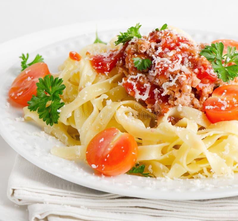 意大利食物-面团 免版税库存照片
