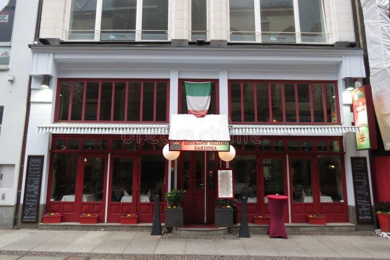 意大利餐馆在德国 库存照片