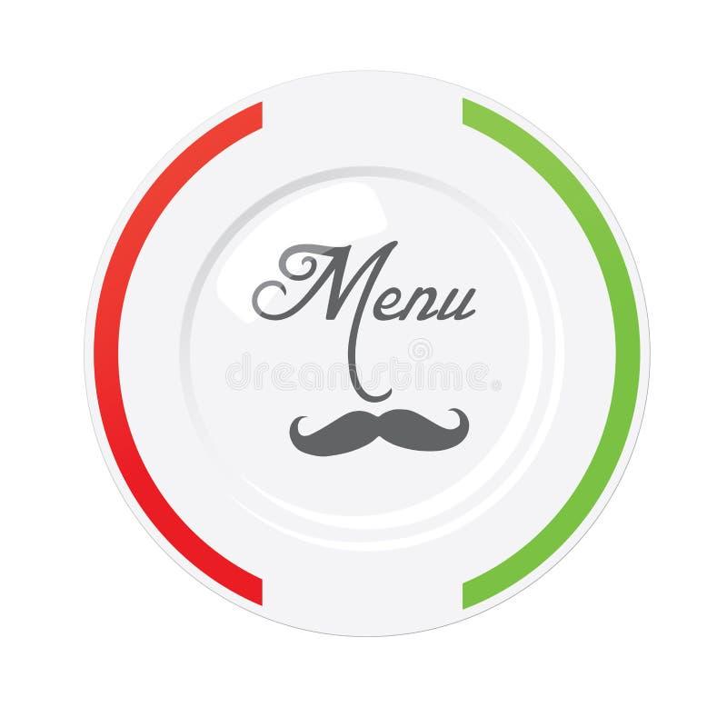 意大利餐馆菜单设计模板 向量例证