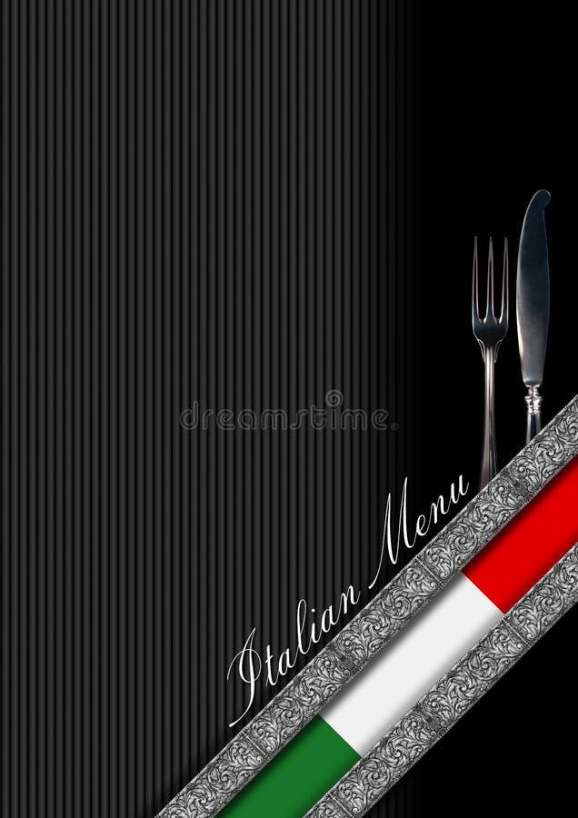 意大利餐馆菜单设计 库存例证