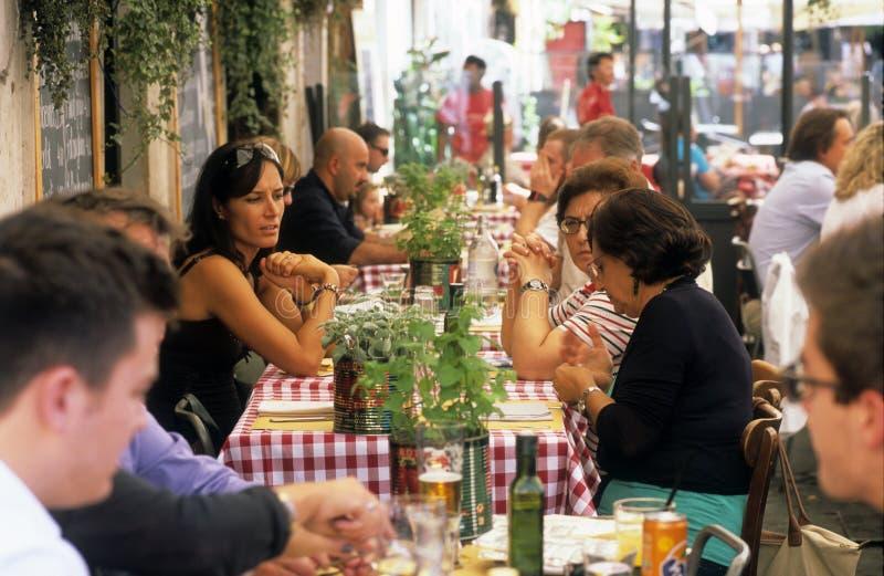 意大利餐馆 免版税库存照片