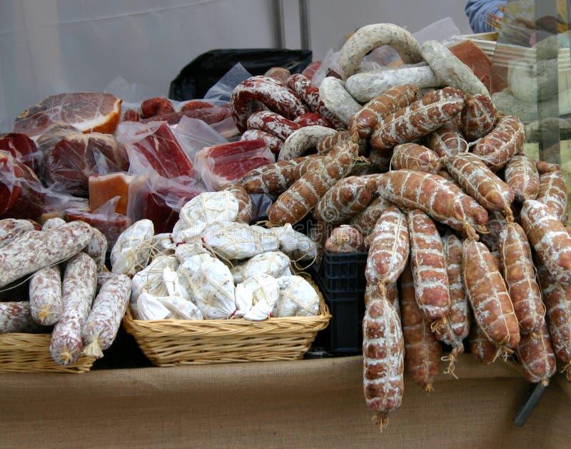 意大利香肠 图库摄影