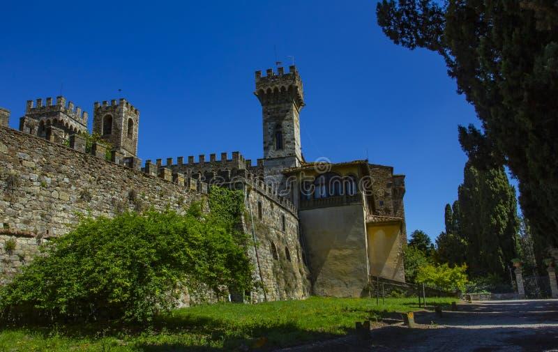 意大利,佛罗伦萨,巴迪亚Passignano 圣米谢勒阿尔坎杰洛15世纪修道院的细节在Passignano 库存图片