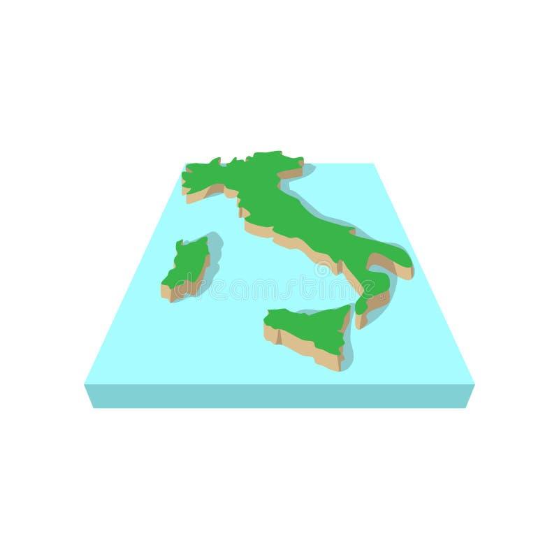 意大利,动画片样式的地图 皇族释放例证