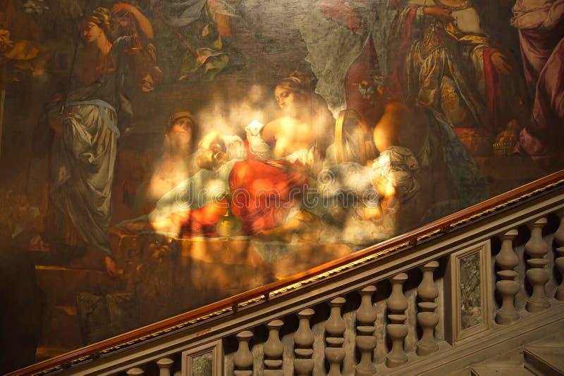 意大利,威尼斯- 9月8 :在Scuola Grande Sa di的绘画 库存图片
