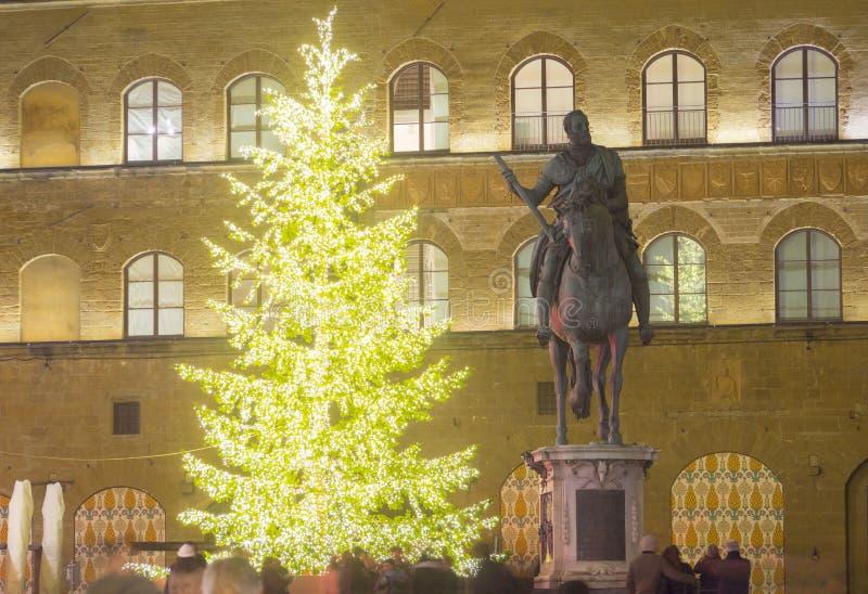 意大利,托斯卡纳,佛罗伦萨, Cosimo de ` Medici纪念碑 免版税库存照片